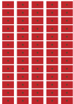 Morocco Flag Stickers - 65 per sheet